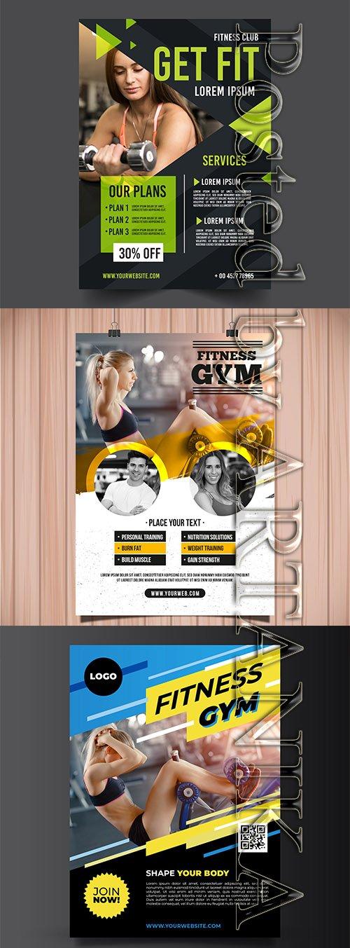 Gym Flyer Template Set