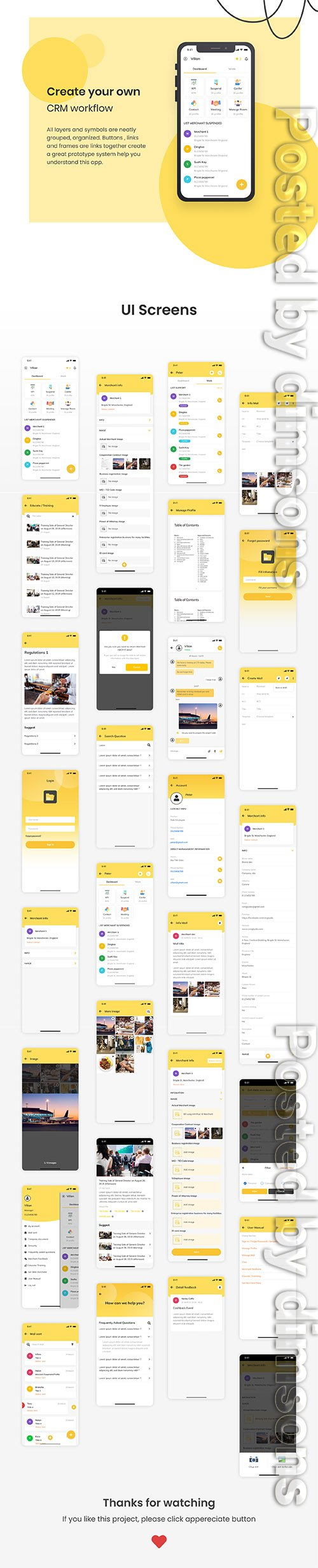 MagCRM - Customer Relationship Management Mobile App UI Kit