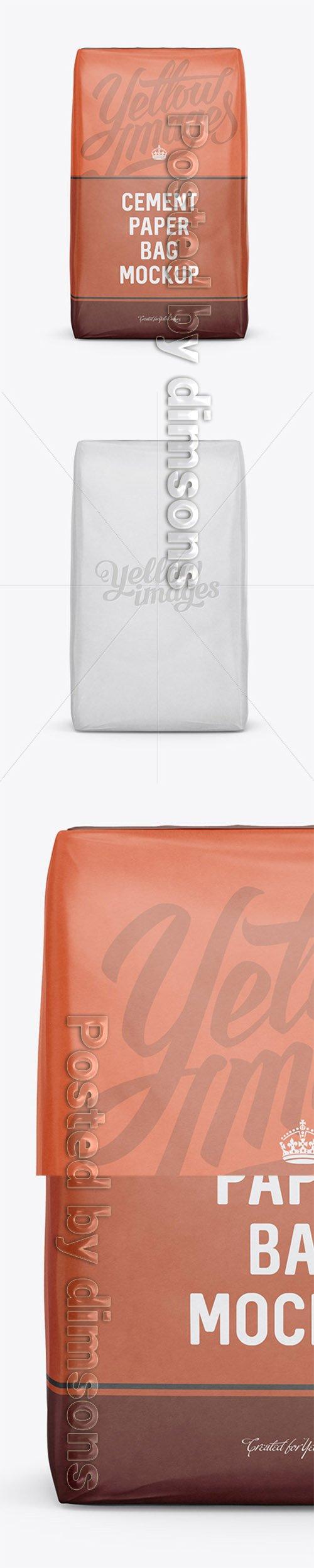 Cement Paper Bag Mockup - Front View 13389 TIF