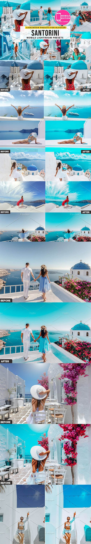 CreativeMarket - Santorini Lightroom Mobile Presets 4207365