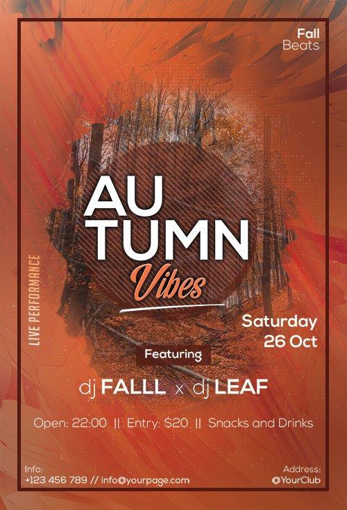 Autumn Vibes - Premium flyer psd template