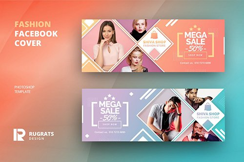 Fashion R2 Facebook Cover Template PSD