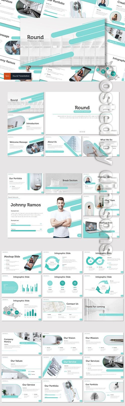 Round - PowerPoint, Keynote and Google Slides Templates