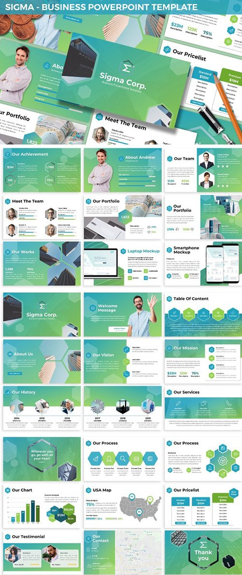 Sigma - Business Powerpoint Template