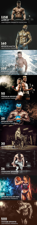 CreativeMarket - 1150 Sports Lightroom Presets 3900491