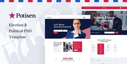 Potisen - Election & Political PSD Template 24869464