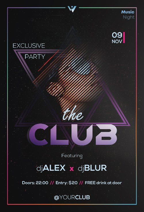 The Club - Premium flyer psd template