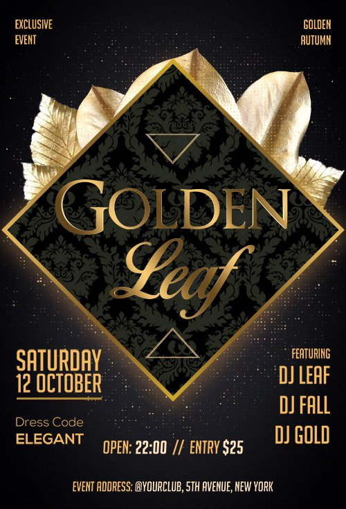Golden Leaf - Premium flyer psd template