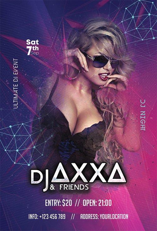 DJ Party - Premium flyer psd template
