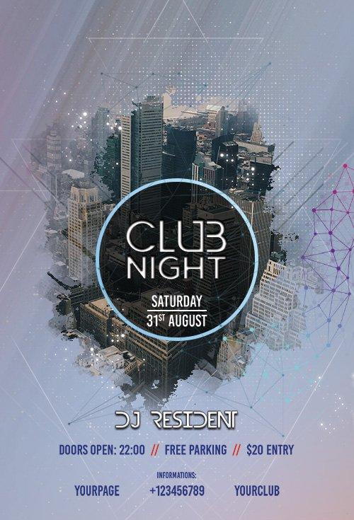 Club Night - Premium flyer psd template