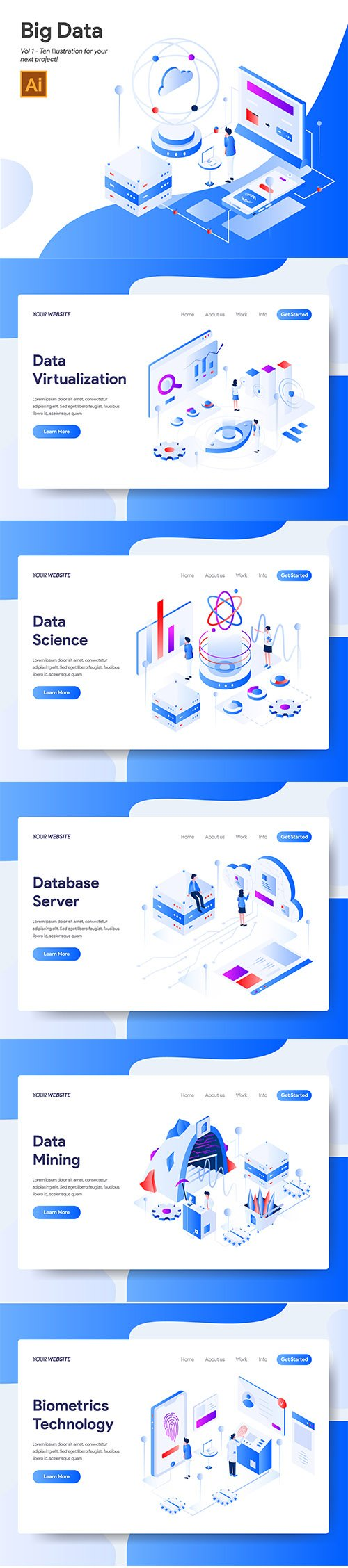 Big Data Vector Illustration Vol 1
