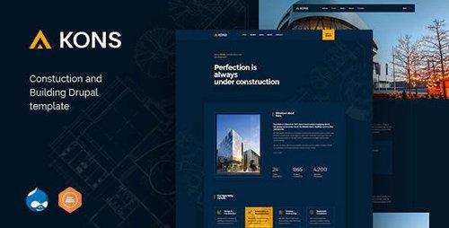ThemeForest - Kons v1.1 - Construction and Building Drupal 8 Theme - 23356583