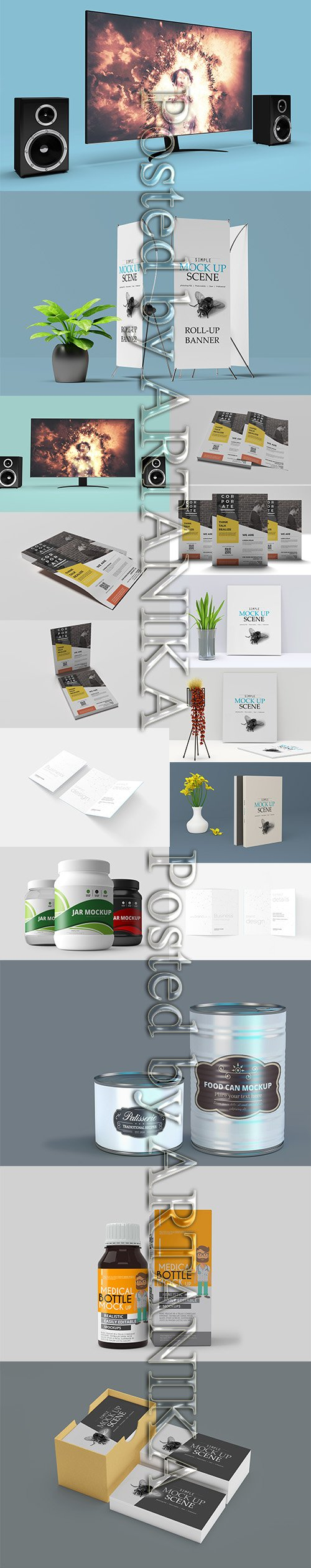 Mix Bundle with Different Mockups Item Template Vol 2