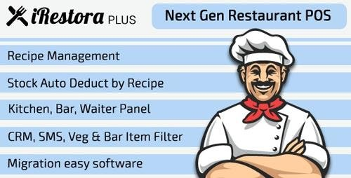 CodeCanyon - iRestora PLUS v3.1 - Next Gen Restaurant POS - 23033741