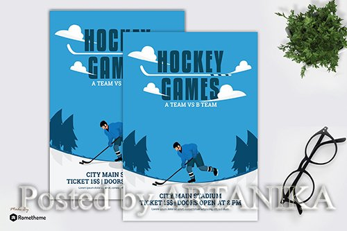 Hockey Games - Flyer Template GR