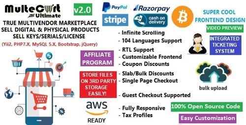 CodeCanyon - MulteCart Ultimate Ecommerce v1.0 - Digital Multivendor Marketplace Ecommerce - eShop CMS - 23561922 - NULLED