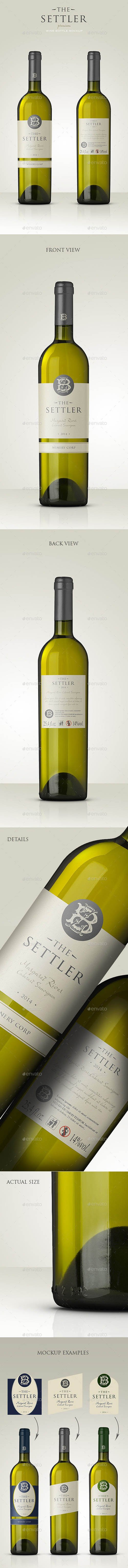 GraphicRiver - Premium White Wine Mockup