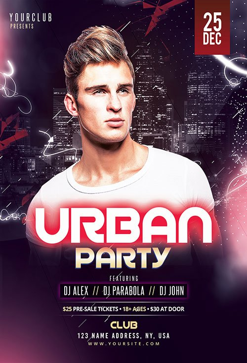 Urban Party PSD Flyer Template