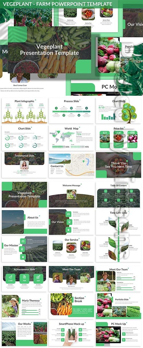 Vegeplant - Farm Powerpoint Template
