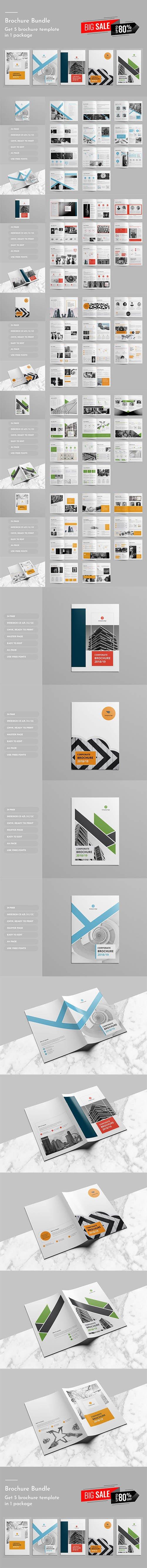 CreativeMarket - Corporate Brochure Bundle 4213030