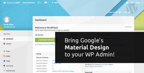 CodeCanyon - Material WP v1.0.6 - Material Design Dashboard Theme - 12981098