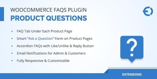 CodeCanyon - WooCommerce FAQ Plugin v1.0.5 - Product FAQ Tab + Store FAQ Page - 20451491