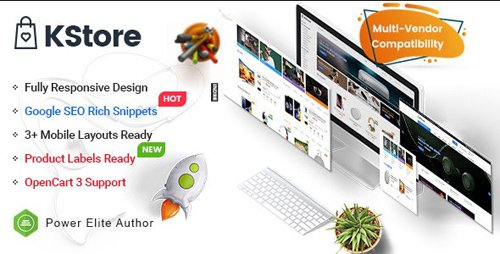 ThemeForest - KStore v1.0.0 - Multipurpose OpenCart 3 Hi-Tech Theme ( 3 Mobile Layouts Included) - 23735944