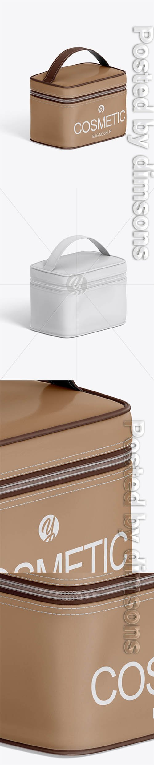 Cosmetic Bag Mockup - Half Side View 32425 TIF