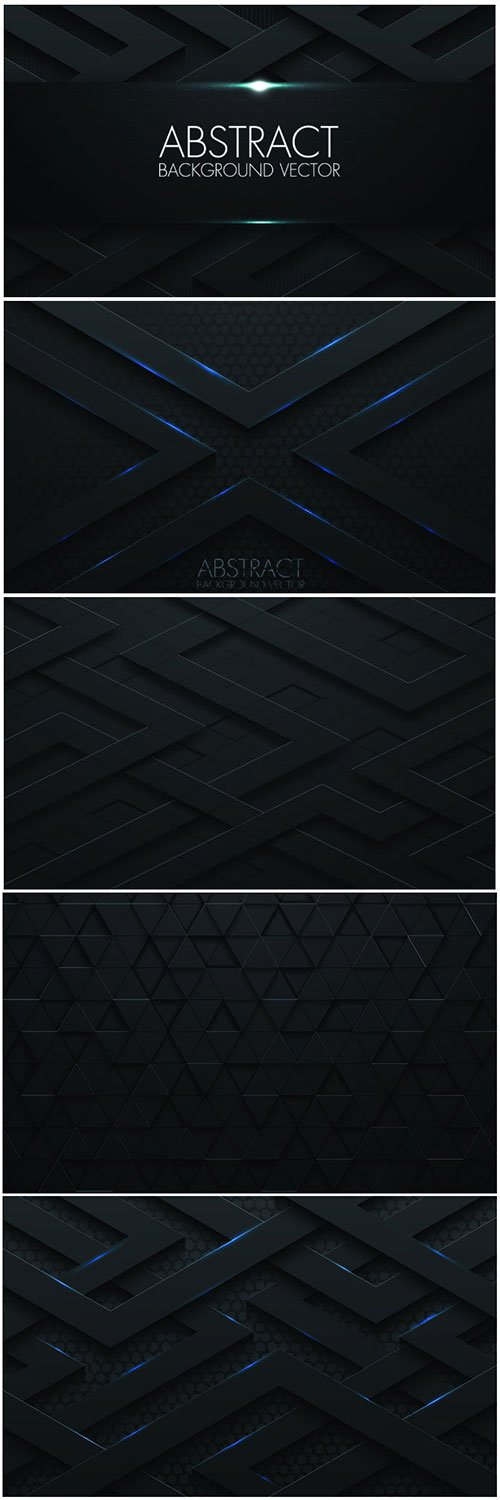Abstract 3d vector black background