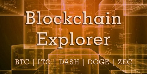 CodeCanyon - Blockchain Explorer v1.2.0 - Bitcoin, Litecoin, Dash, Dogecoin, ZCash - 21682910 - NULLED