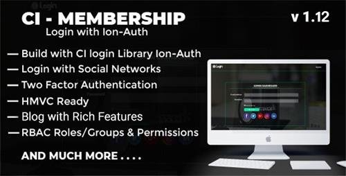 CodeCanyon - Codeigniter Login with Ion Auth, HMVC, Social Login and User management System v1.10 - 19878790