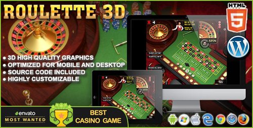 CodeCanyon - 3D Roulette - HTML5 Casino Game (Update: 1 June 18) - 8315639
