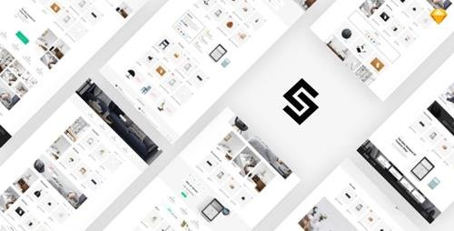ThemeForest - Furnikit v1.0 - eCommerce Sketch Template (Update: 26 October 19) - 24838536