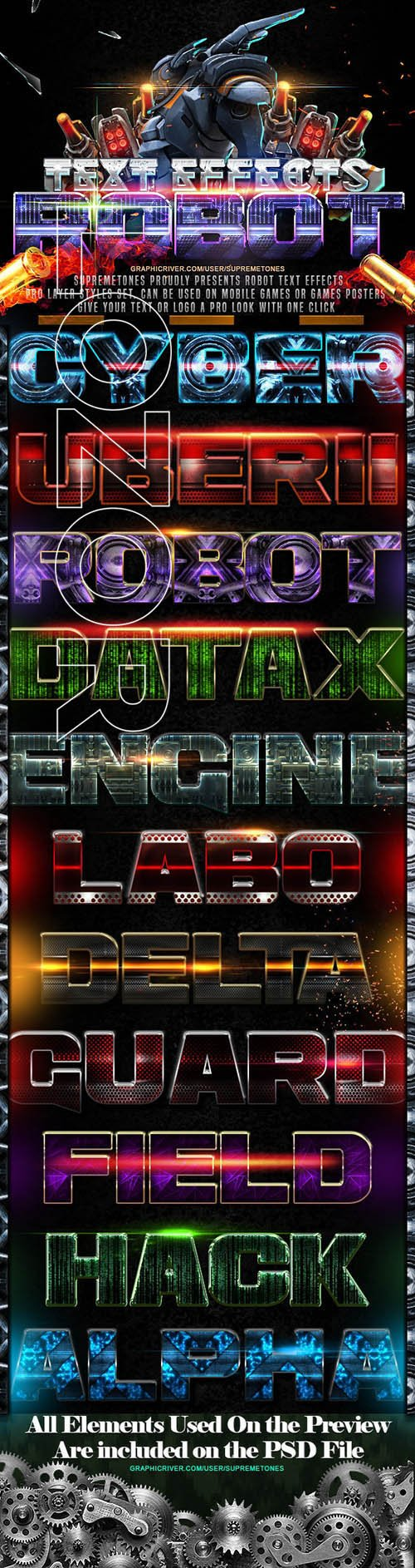 GraphicRiver - Robot Photoshop Text Effects 24697627