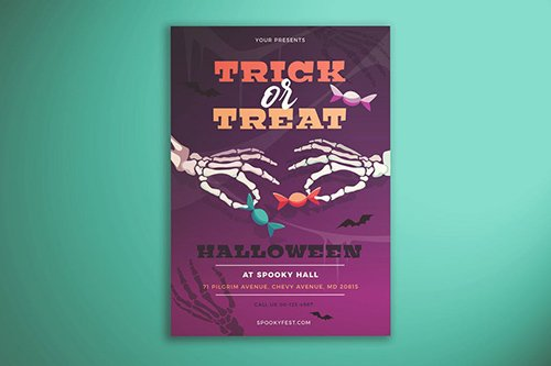 Trick or Treat Flyer PSD