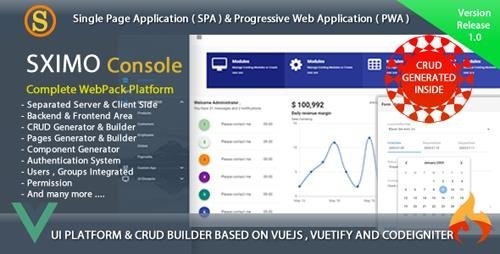 CodeCanyon - Web and Mobile Development Tools - Sximo Console v1.1 - 22977261