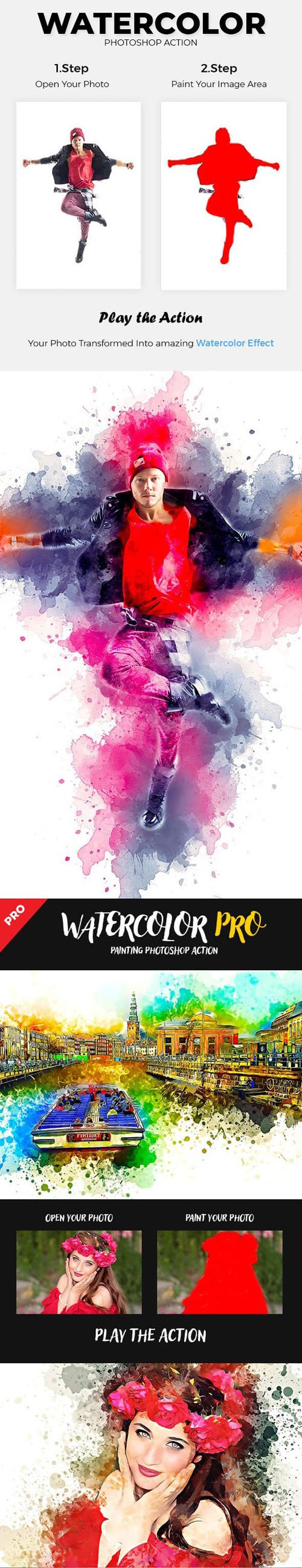 GR - Mixed Water 4in1 Photoshop Action Bundle