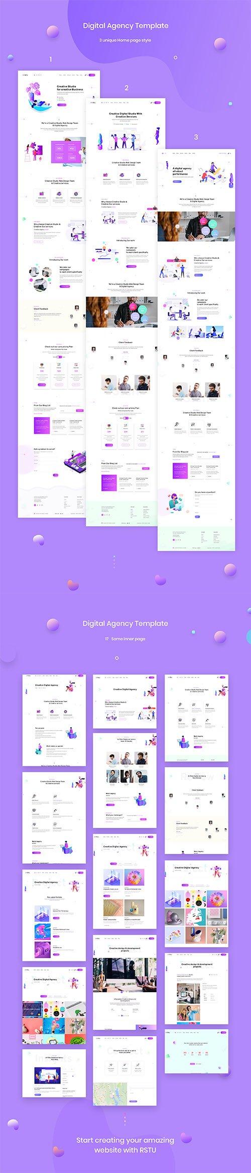 Creative Digital Agency Template