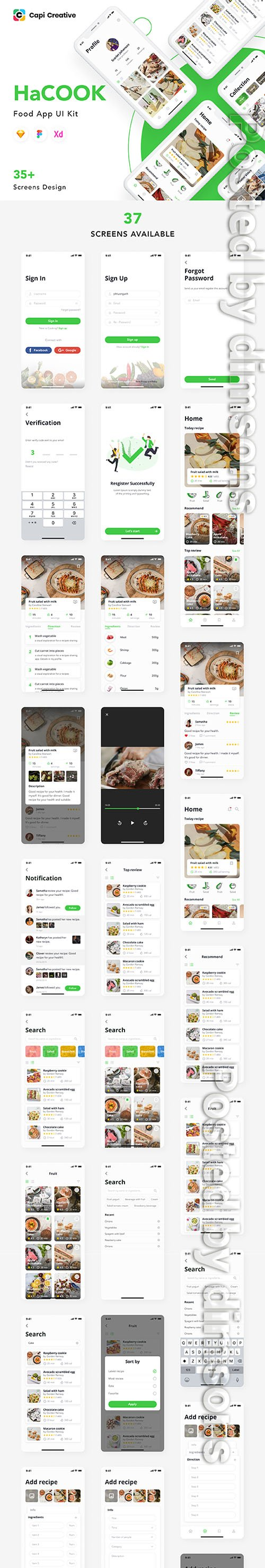 HaCook - Recipe Manager App UI Kit