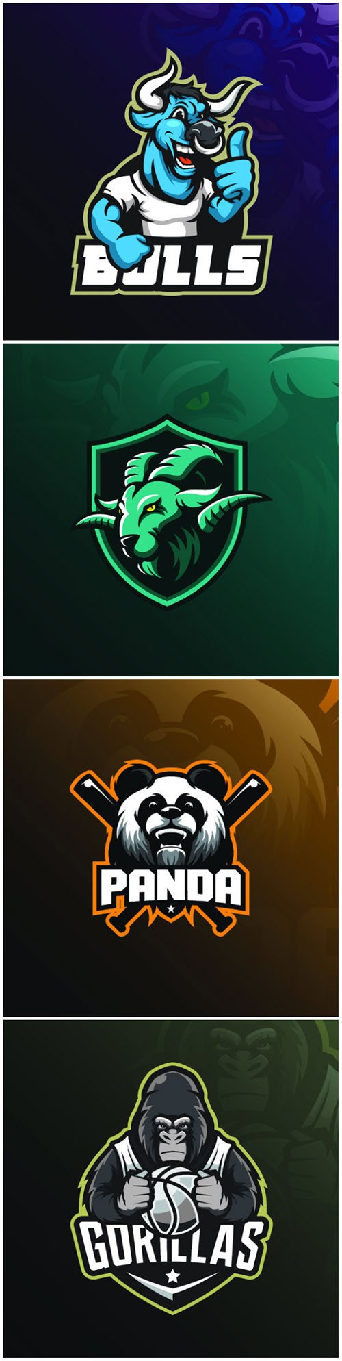 Mascot vector logo design with modern illustration concept style for badge, emblem and tshirt printing # 5