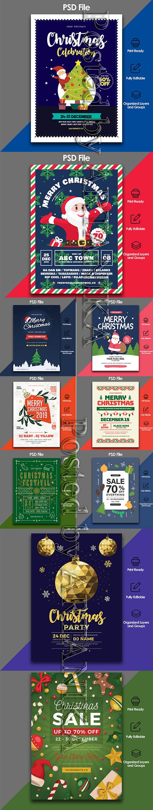 Christmas Celebration Flyer PSD Template Pack