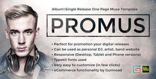 ThemeForest - Promus v1.0 - Music Album Release / DJ / Band / Musician Onepage Muse Template (Update: 2 August 18) - 9334338