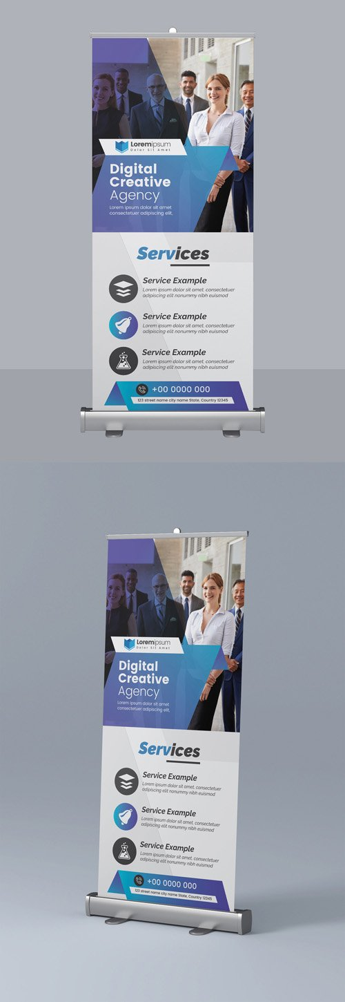 Corporate Business Roll Up Banner Layout 295382509