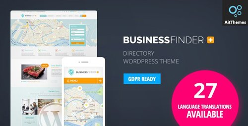 ThemeForest - Business Finder v2.68 - Directory Listing WordPress Theme - 5443578