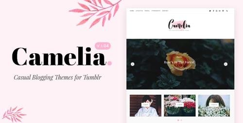 ThemeForest - Camelia v1.05 - Responsive Blogging Tumblr Theme - 19401936