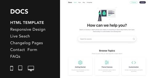 ThemeForest - Docs v1.0 - Documentation and Manual HTML5 Responsive Template - 24951074