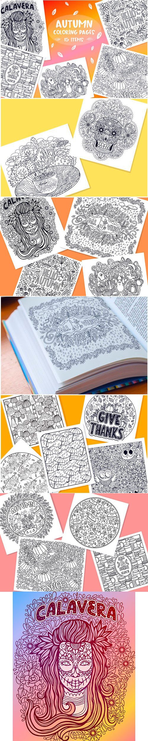 Creativefabrica - Autumn Coloring Pages Bundle