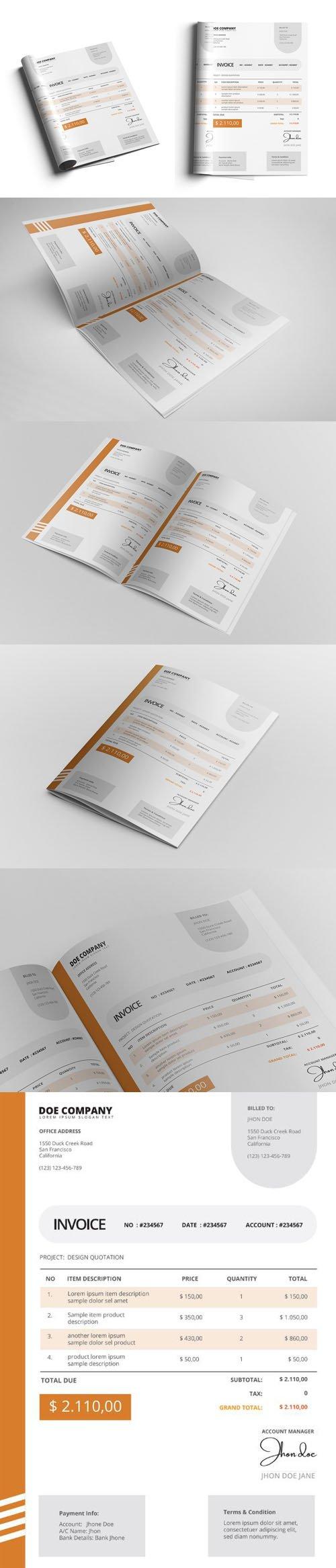 Company Invoice Template in Vector