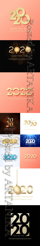 Vector Set - New Year 2020 Illustartions Pack