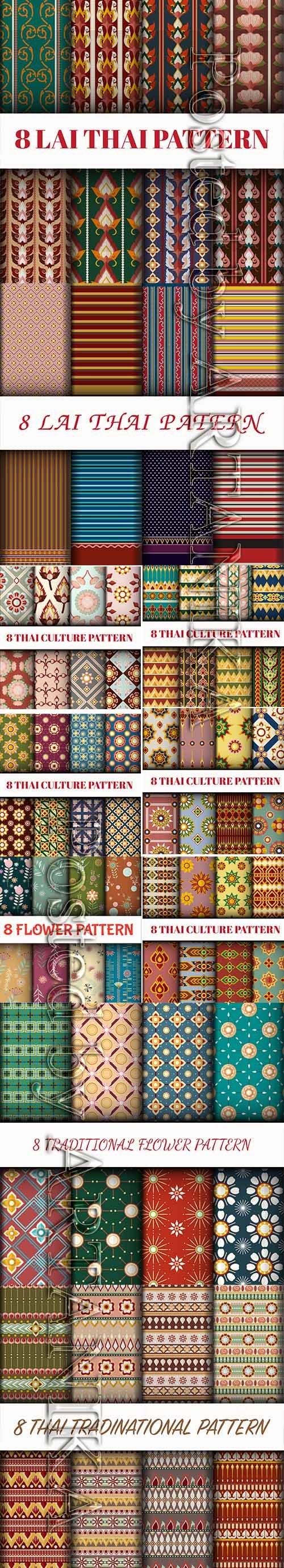 Vector Set - Thai Style Patter